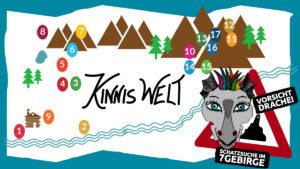 Schatzkarte Kinnis Welt Geocaching-Abenteuer im Siebengebirge